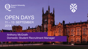 Anthony McGrath, Domestic Student Recruitment Manager