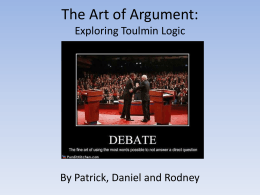 Toulmin Logic Slideshow