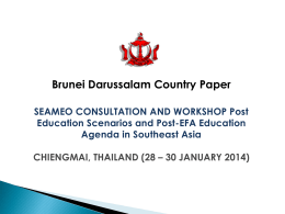 SEAMEO CONSULTATION AND WORKSHOP on Post