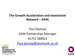 presentation notes - Plymouth Social Enterprise Network