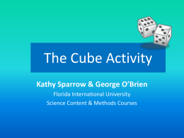 The Cube Activity - Florida International University