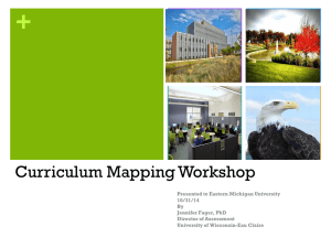 Curriculum Mapping Presentation