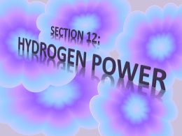 Unit 5 Section 12 Hydrogen Power