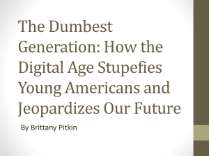 The Dumbest Generation PowerPoint