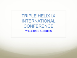 "From ""Sabato`s Triangle"" - Triple Helix Conference"