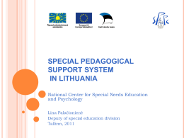 special pedagogical support system in lithuania
