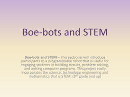 Boe-bots and STEM - stem-lea