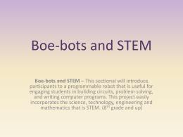 Boe-bots and STEM - stem-lea