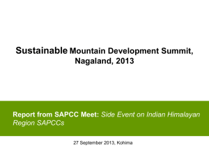 SAPCCs - Sustainable Development Forum Nagaland (SDFN)