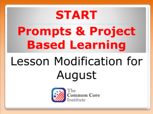Prompts Project Based Learning - Global Center For College