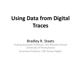 Digital trace data
