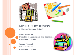 Literacy by Design Presentation