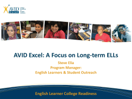 English Learner College Readiness
