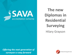 SAVA – our pedigree - Residential Property Surveyors Association
