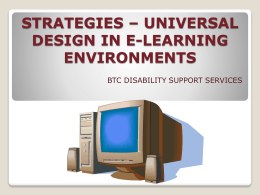 strategies * universal design in e-learning