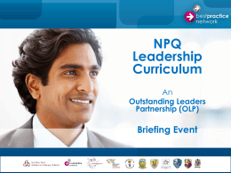 OLP Leadership Curriculum Briefing StHelens Participant copy