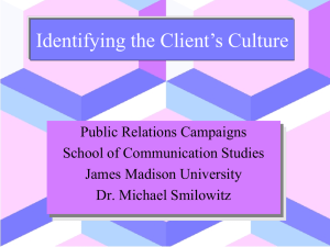 Identifying the Client`s Culture