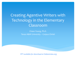 Creating Agentive Writers with Technology in the Elementary