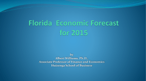 Florida Economic Forecast for 2015