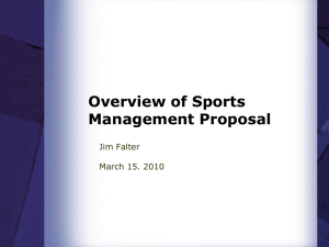 Overview of Sports Management Proposal