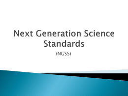 Next Generation Science Standards Power-Point