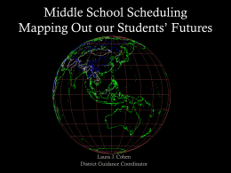 Middle School Scheduling Guidance Concerns