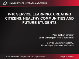 P-16 Service-Learning - Nebraska Campus Compact