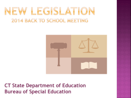 BTS Presentation-New Legislation SLD