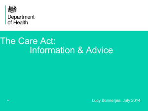 The Care Act: Information & Advice
