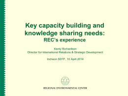 Capacity Building and Knowledge