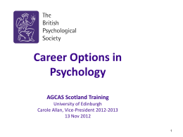 Career Options in Psychology