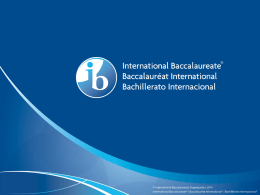 IB Parent Information Presentation (ppt)