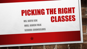 Picking the right classes