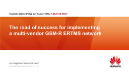 What is a multi-vendor GSM-R network?