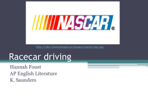 Race car driving - AP English Literature and Composition