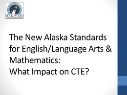 AK Standards for CTE Partners