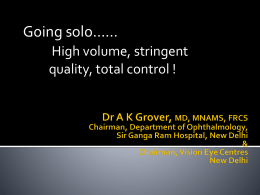 Dr A K Grover_Going solo