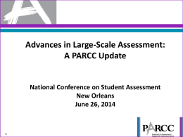 NCSA Presentation PARCC Advances June 30