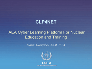 IAEA Cyber Learning Platform For Nuclear Education and Training