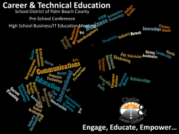 Career & Technical Education - the School District of Palm Beach