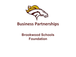 Business Partnerships - Brookwood Schools Foundation