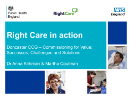 Solution - NHS Right Care