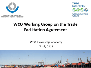 WCO Working Group on the TFA