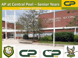 AP at Central Peel – Senior Years