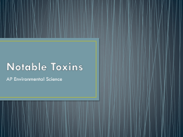Notable Toxins