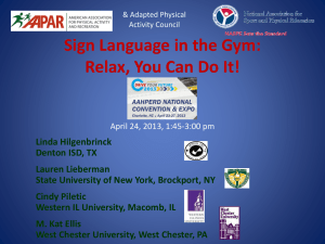 Sign Language in the Gym~2