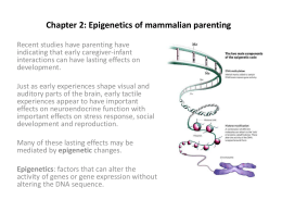 Chapter 2: Epigenetics of mammalian parenting