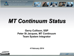 MT Continuum Capabilities Update