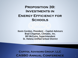 The Governor`s Proposal - California Association of School Business