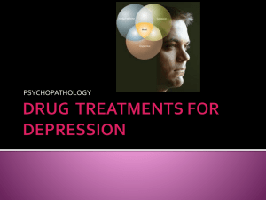 drug treatments for depression